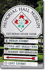 Memorial Hall Museum sign, Old Deerfield MA