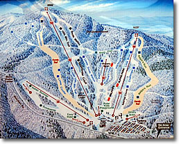 Wachusett Mountain Ski Area Trail Map