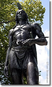 Massasoit statue in Plymouth MA