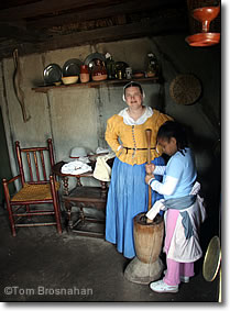 Churning Butter, Plimoth Plantation, Plymouth MA