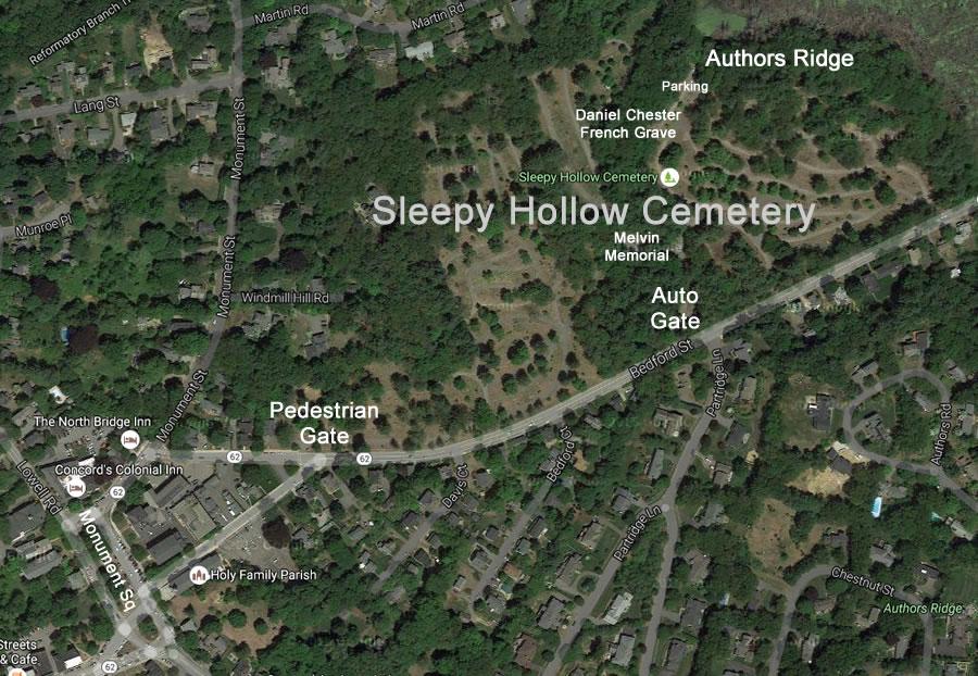Sleepy Hollow Auto >> Authors Ridge, Sleepy Hollow Cemetery, Concord MA