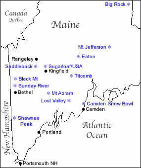 Jefferson Maine Map.Map Of Maine Ski Resorts