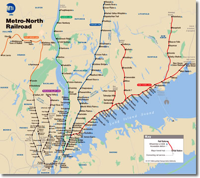 Train Subway Map New York.Train Travel In New England Usa Amtrak Metro North Shore Line