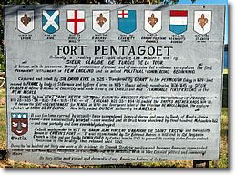 Fort Pentagoet sign, Castine ME