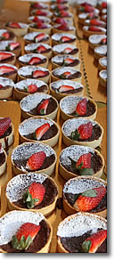 Strawberry tarts, Rockland ME