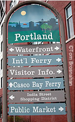 Directional Sign, Portland ME