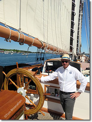 Captain of the Victory Chimes Windjammer, Maine