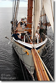 View from the Bowsprit, American Eagle out of Rockland ME