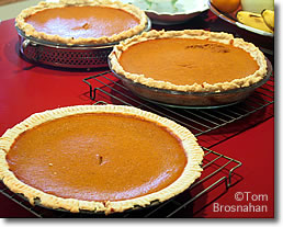 Thanksgiving Pumpkin Pies in New England