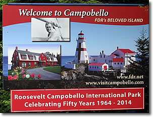 Roosevelt Campobello International Park sign