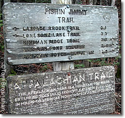 Appalachian Trail sign, New Hampshire