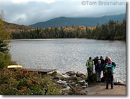 Hikers at Lonesome Lake NH