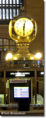Bronze Clock, Grand Central Terminal, New York City
