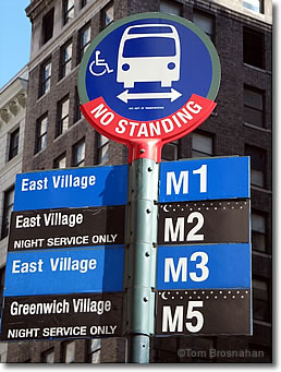 Bus Stop Sign, New York City