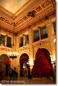 Great Hall at Christmas, The Breakers, Newport RI