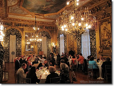 Dining room at Marble House mansion, Newport RI