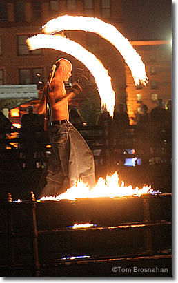 Performance artist Spark at Waterfire, Providence RI