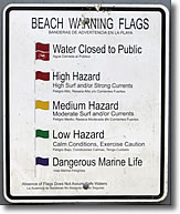 Beach warning flags, South County, Rhode Island