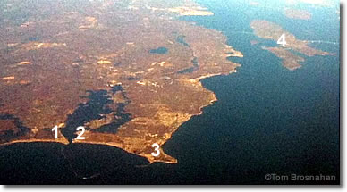 Aerial view of Point Judith, Rhode Island