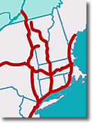 Amtrak Train Routes in New England