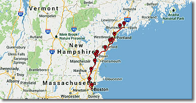 Amtrak\'s Downeaster Train Boston MA - Portland & Brunswick ME