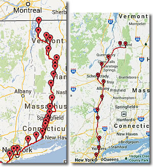 Vermont Transportation Car Bus Train Plane Ferryboat - Map of vermont and new york