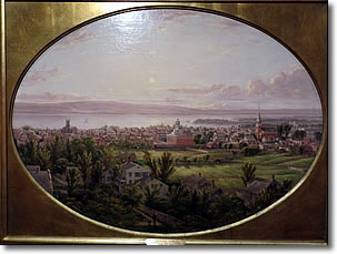Bird's Eye View of Burlington, Vermont, by Charles L Heyde, Shelburne Museum, Vermont