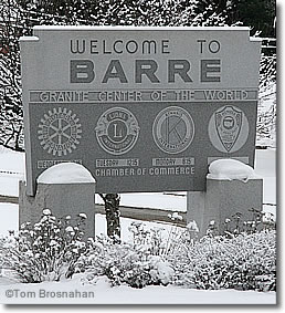 Welcome Sign, Barre VT
