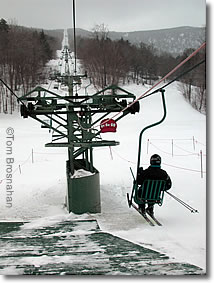 Single Chair Ski Lift, Mad River Glen VT