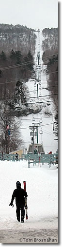 Skiing at Mad River Glen, Vermont