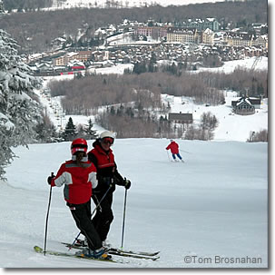 Skiing at Stratton Mountain, Vermont