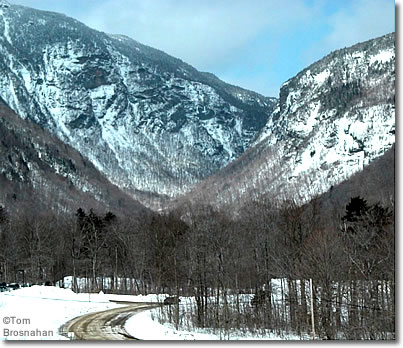 Smugglers Notch in winter, Stowe, Vermont