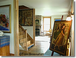 Art in a historic Vermont B&B