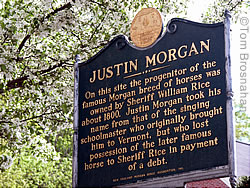 Justin Morgan Sign