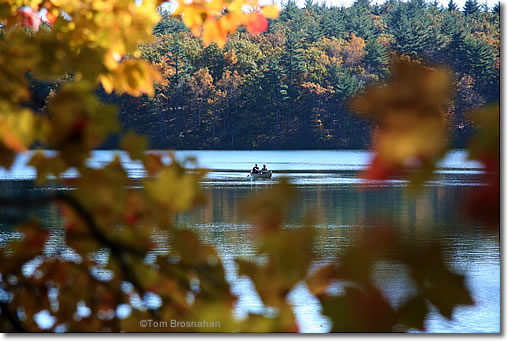 Canoe On Walden Pond Concord Ma